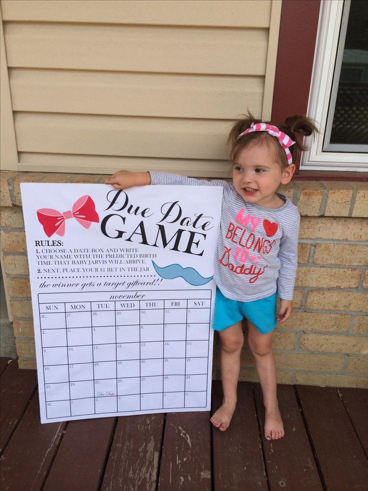 Infant Calendar Ideas : Best ideas about gender reveal games on pinterest