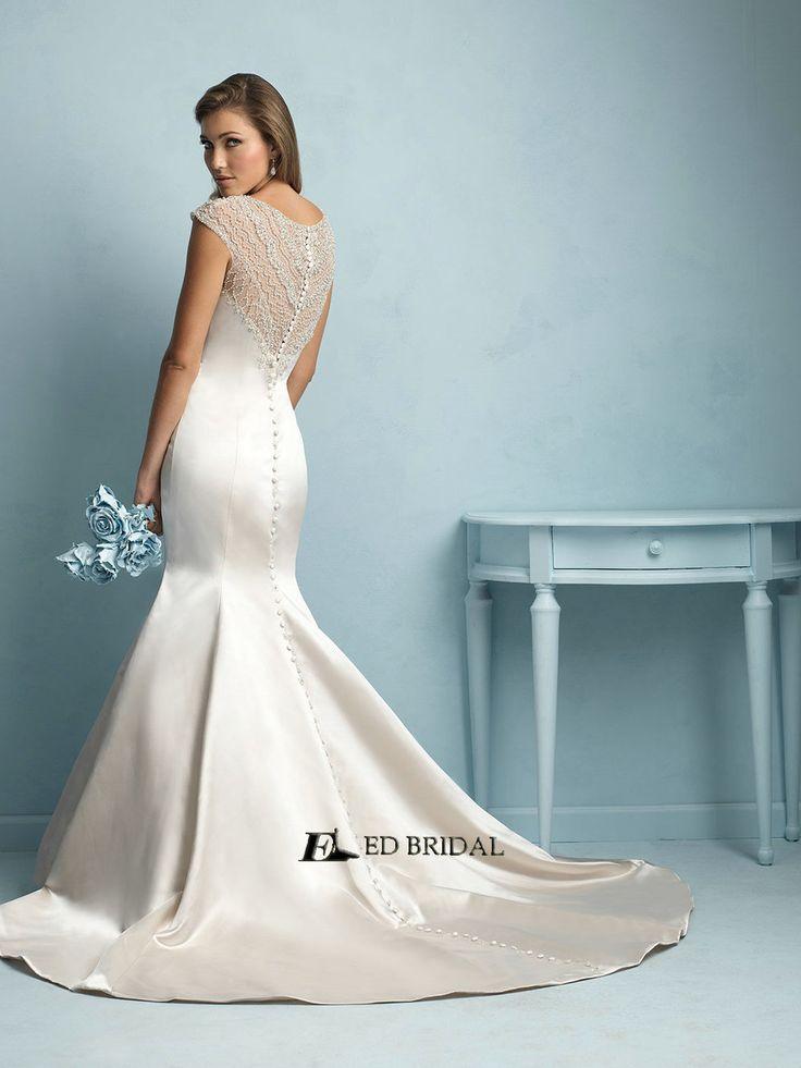 Ed Yh2267 Vestidos De Novias Y Cap Sleeve Beaded Mermaid Wedding Dress Patterns View