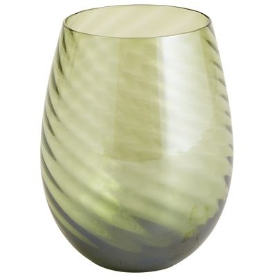 Optic Luster Stemware - Olive