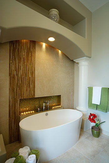 Possible arch over the tub