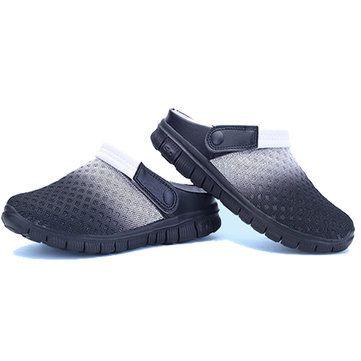 US Size 6.5-10 Summer Men Mesh Beach Outdoor Slip On Comfortable Flats Sandals S - US$18.99
