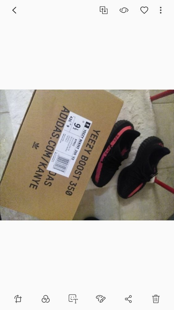 ff064f457675f YEEZY Boost 350 V2 Core Black Red Stripe Mens Size 9.5 US  fashion  clothing   shoes  accessories  mensshoes  athleticshoes (ebay link)