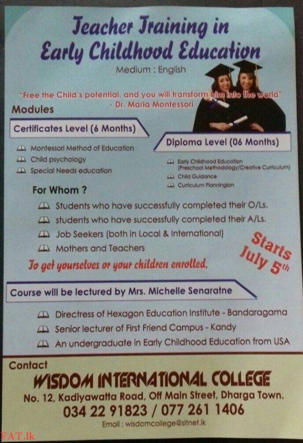 Teacher Training Course In Early Childhood Education Degree