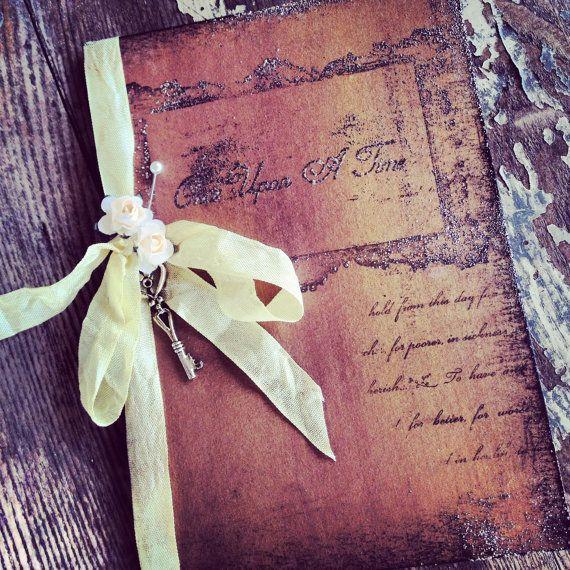 Pocketfold Invitations Fairytale Wedding Invitation Vintage Book invitations via Etsy