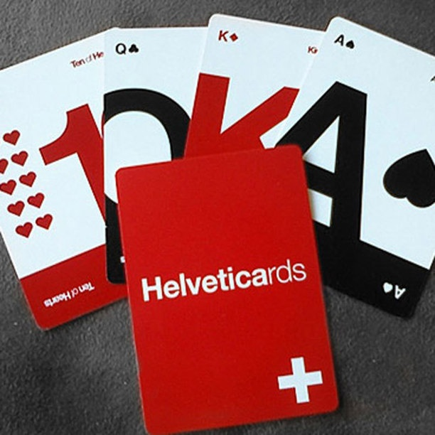 modern helvetica playing cards
