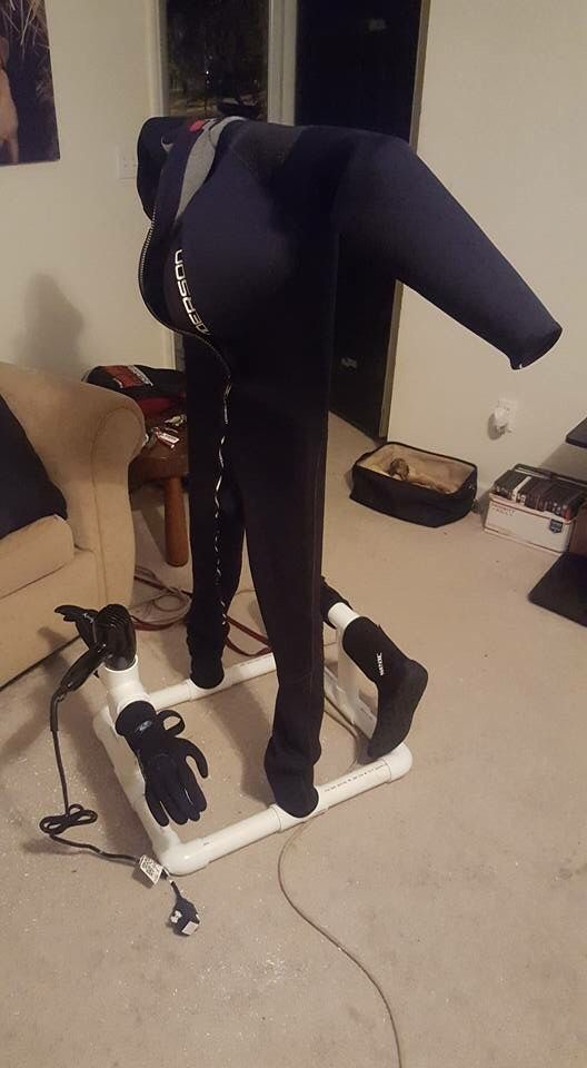 Loving this wet suit dryer! Homemade!