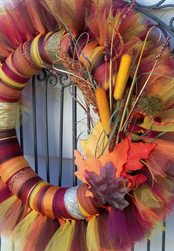 Autumn/Fall Tulle Wreath
