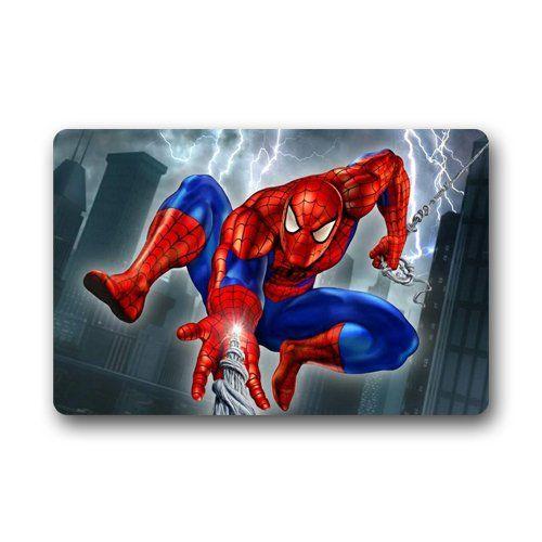 Spiderman hero Custom Machine Washable Door Mats Indoor Outdoor House Doormat 23.6L x 15.7W @ niftywarehouse.com #NiftyWarehouse #Spiderman #Marvel #ComicBooks #TheAvengers #Avengers #Comics