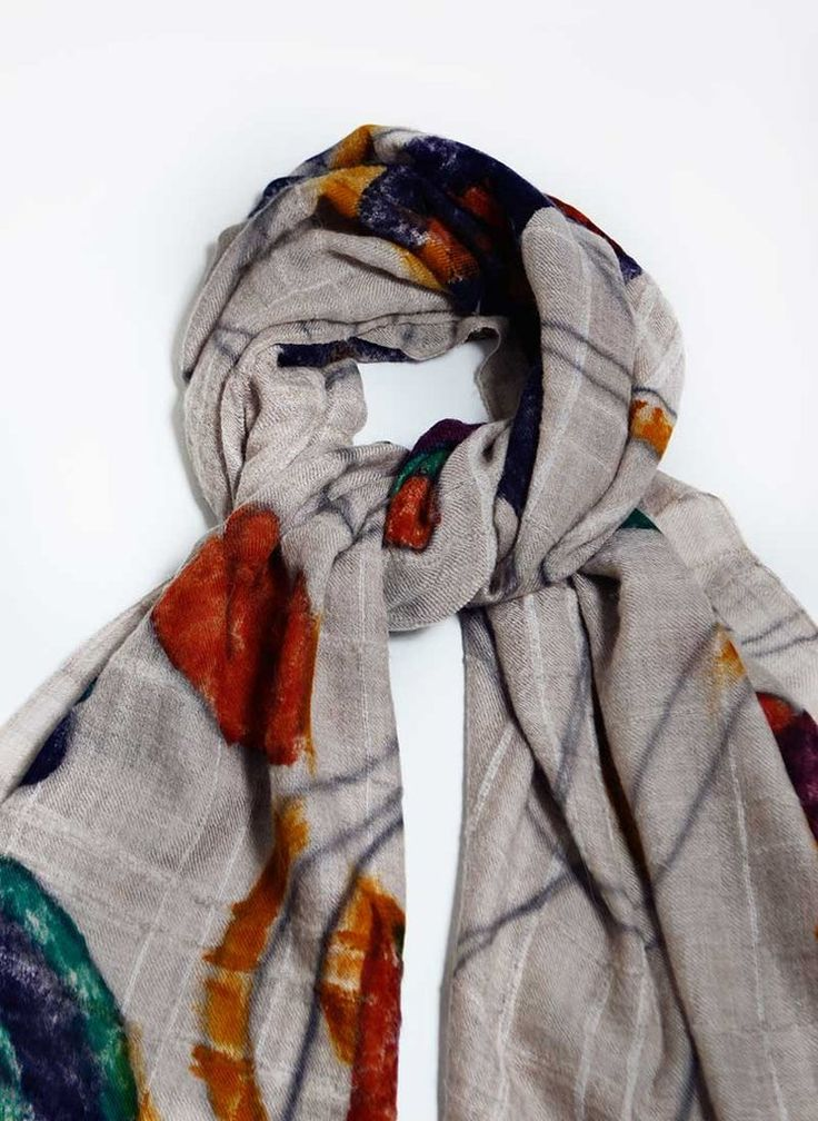 Cashmere Scarf | 19 andrea's 47 | Flowers