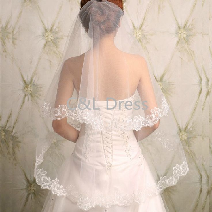 2016 Korean New Lace Long Bride Wedding Veil Wedding Gauze Sequins Lace White Dress Wedding Accessories