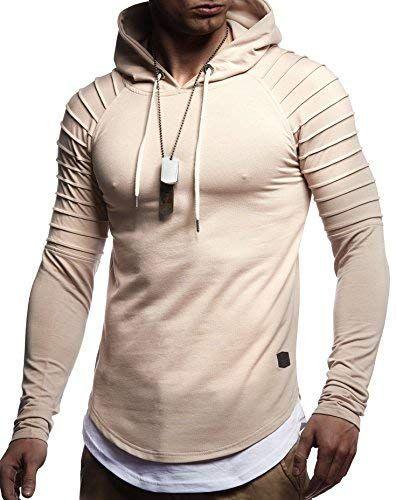 LEIF NELSON Herren Gesteppter Pullover Kapuzenpullover Hoodie Sweatshirt  Kapuzen Pulli LN8155 8cf478da11