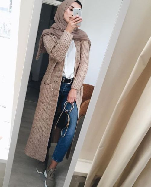 Neutral winter hijab outwears – Just Trendy Girls
