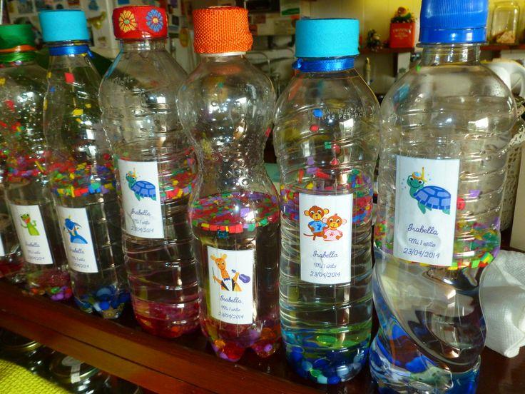 Botellas sensoriales, para bebes: Re utilizando botellas de plástico.