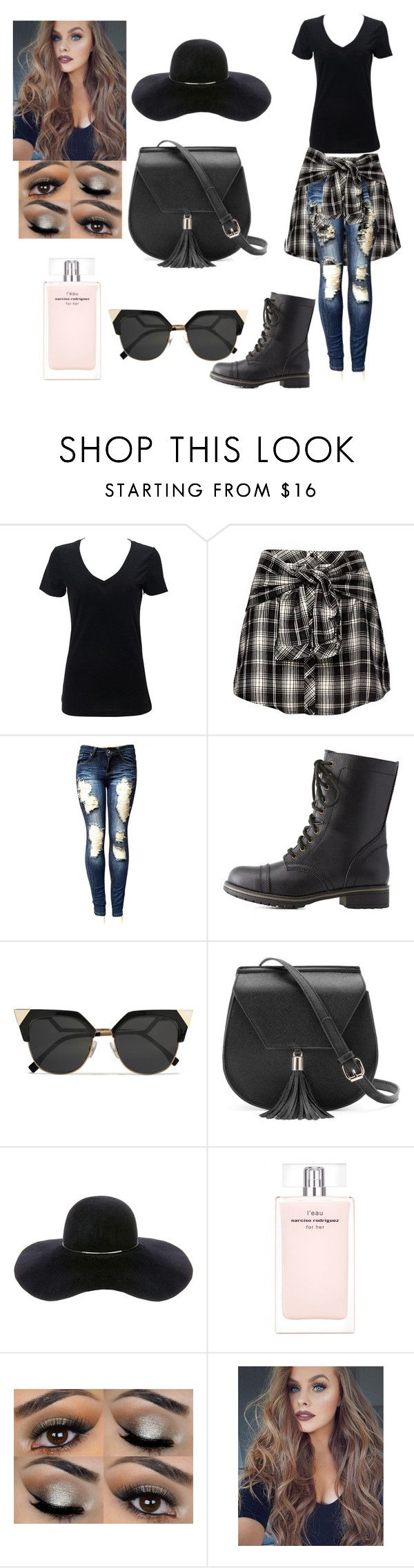 """""""Football game tomorrow!"""" by haileywilkins1 ❤ liked on Polyvore featuring Charlotte Russe, Fendi, Yoki, Eugenia Kim and Narciso Rodriguez"""