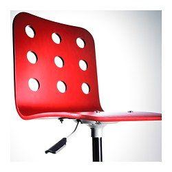 JULES Sedia da scrivania - rosso - IKEA