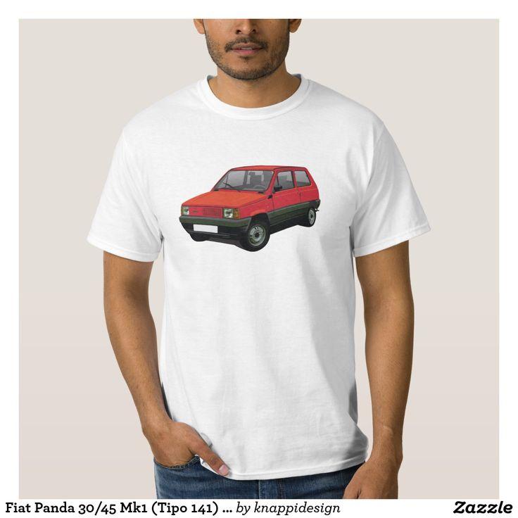 Fiat Panda 30/45 Mk1 (Tipo 141) Red Tee Shirts  #fiat #fiatpanda #tshirt #italia #italy #panda #thirts #80s #