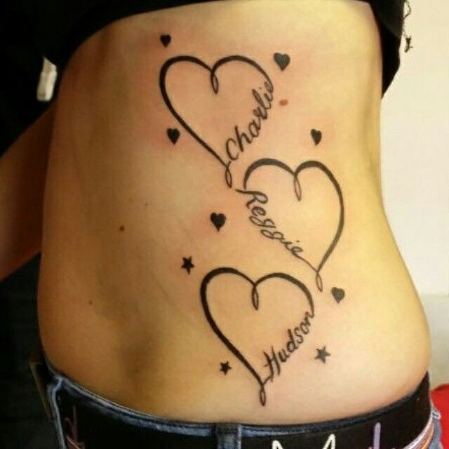 Tattoo Ideas With 3 Names: Best 25+ Heart Tattoos With Names Ideas On Pinterest