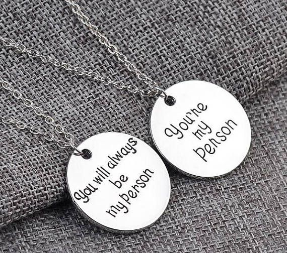 You're my Person You will always be my Person Necklaces.