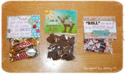 Pillow treats for Girl's Camp