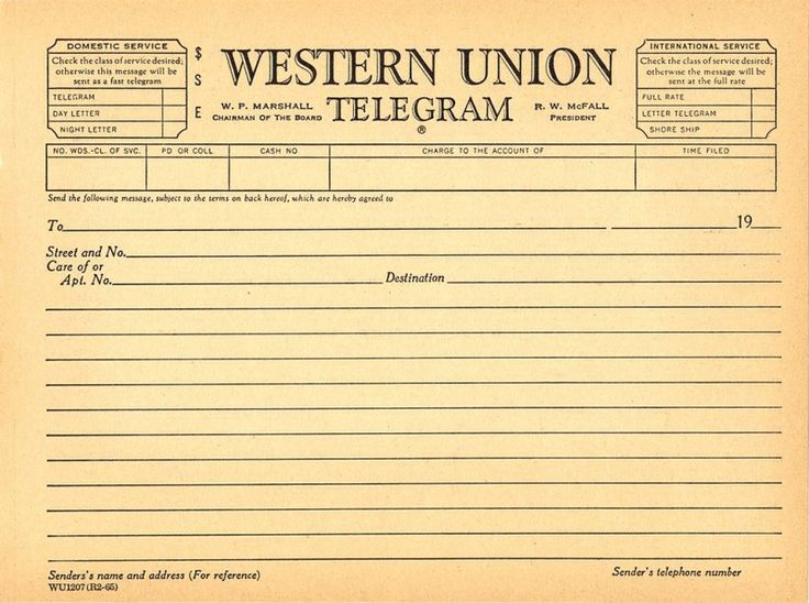Free Telegram Template | ... resources, and telegram templates - Alternate History Discussion Board