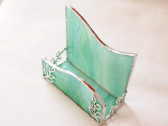 Stained Glass Business Card Holder by GlassofDistinction on Etsy