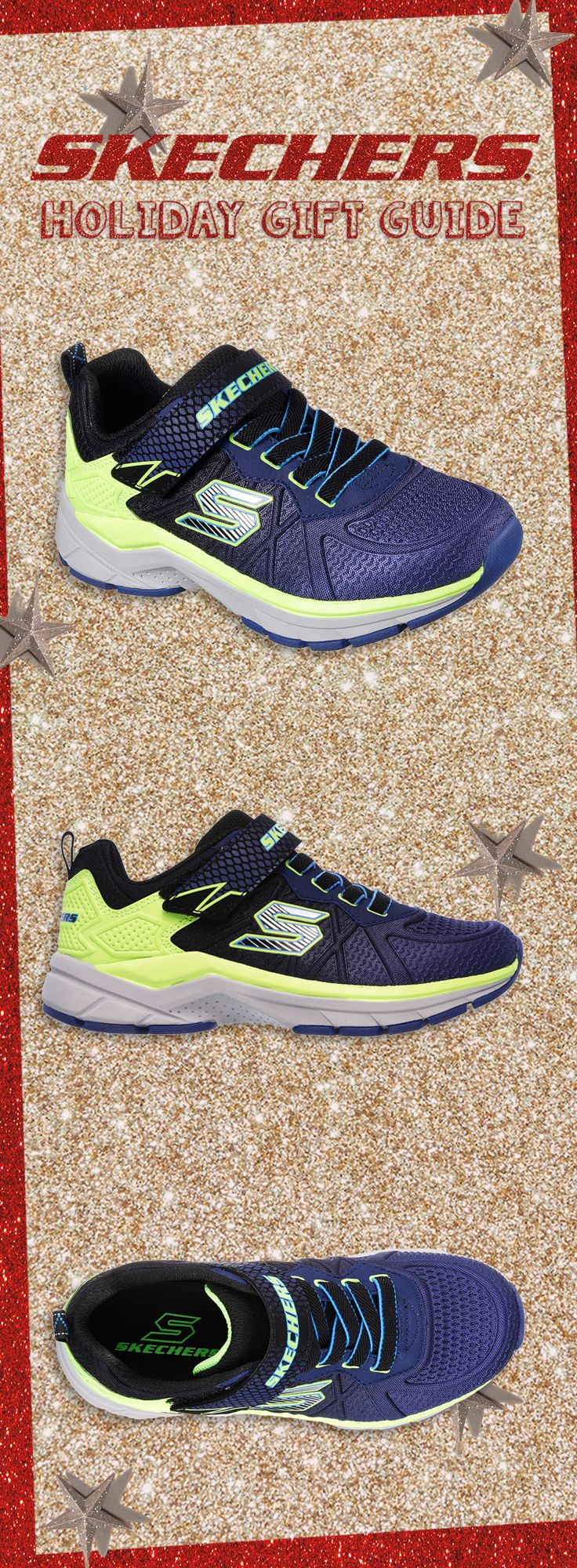 Keep his style cool and sporty for the holidays with the SKECHERS Ultrasonix shoe. #SKECHERSkids