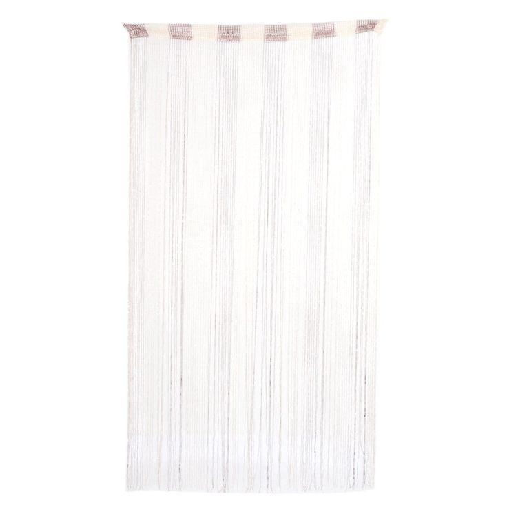 Sparkling Ribbon Flat Strip Tassel Screen Decoration String Curtain Brown