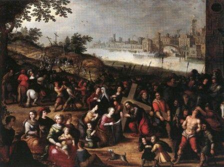 """Louis de Caullery (Caulery, Cambrai 1580 ca. - Anversa 1621/22)  """"Cristo e la Veronica""""  olio su tavola, cm 67 x 94  #PinacotecaCivica #AscoliPiceno #Marche #Italy"""