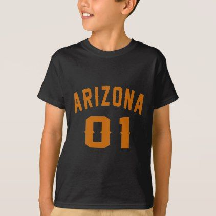 #Arizona 01 Birthday Designs T-Shirt - #giftidea #gift #present #idea #one #first #bday #birthday #1stbirthday #party #1st