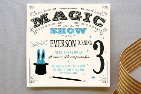Best 20 Magic Show Birthday Party Invitations ideas on Pinterest