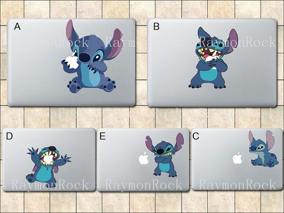 Stitch Decal Macbook Decal Macbook Stickers Mac by RaymonRock, $8.50