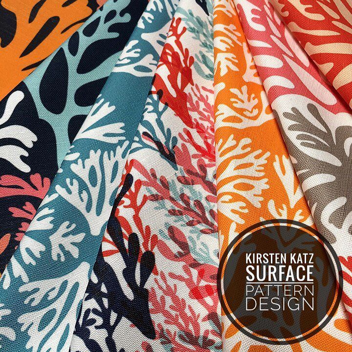 A few of the designs from my Coastal Coral Collection available to purchase online via my Spoonflower shop http://ift.tt/2jJ9QJM  #kirstenkatz #spoonflowerdesigner #textiledesign #surfacepatterndesign #fabricdesign #homedecorating #interiorstyling #coastalstyle #coralprint #fabricforsale