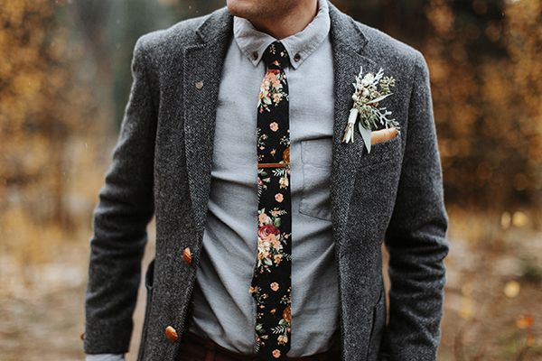 An Autumn Wedding » Drifter & the Gypsy Groom tie: asos suit coat & pants: nordstrom rack shirt: h&m