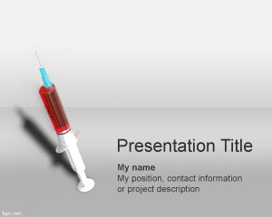Syringe PowerPoint template is a free medical PowerPoint presentation template that you can download for serious medical treatment as well as other free PowerPoint presentations for healthcare industry