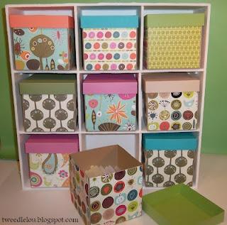 DIY small storage cube, super cute for toys in the basement.