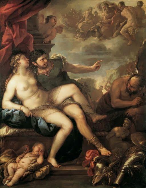 Άρης και Αφροδίτη, φυλακισμένοι του Ήφαιστου 1670