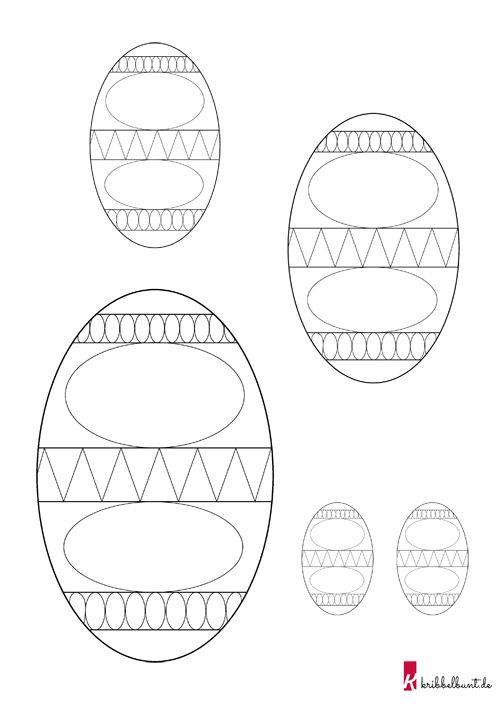osterei vorlage » pdf zum ausdrucken  kribbelbunt