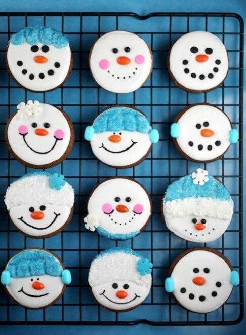 Sneeuwmannetjes #cake #fun