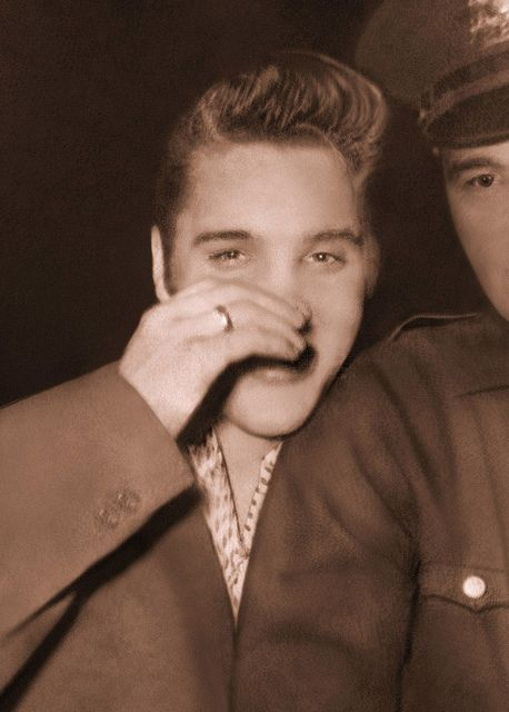 Elvis Presley - Rare - Unpublished Photo - July 1, 1956 -  Hudson Theater, New York City by rockinred1969