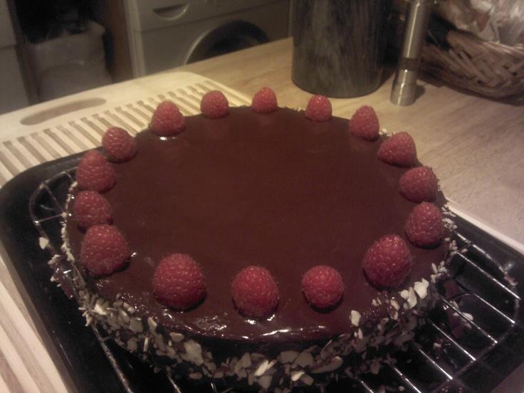 How I spent my Sunday, Chocolate Raspberry Torte :-)