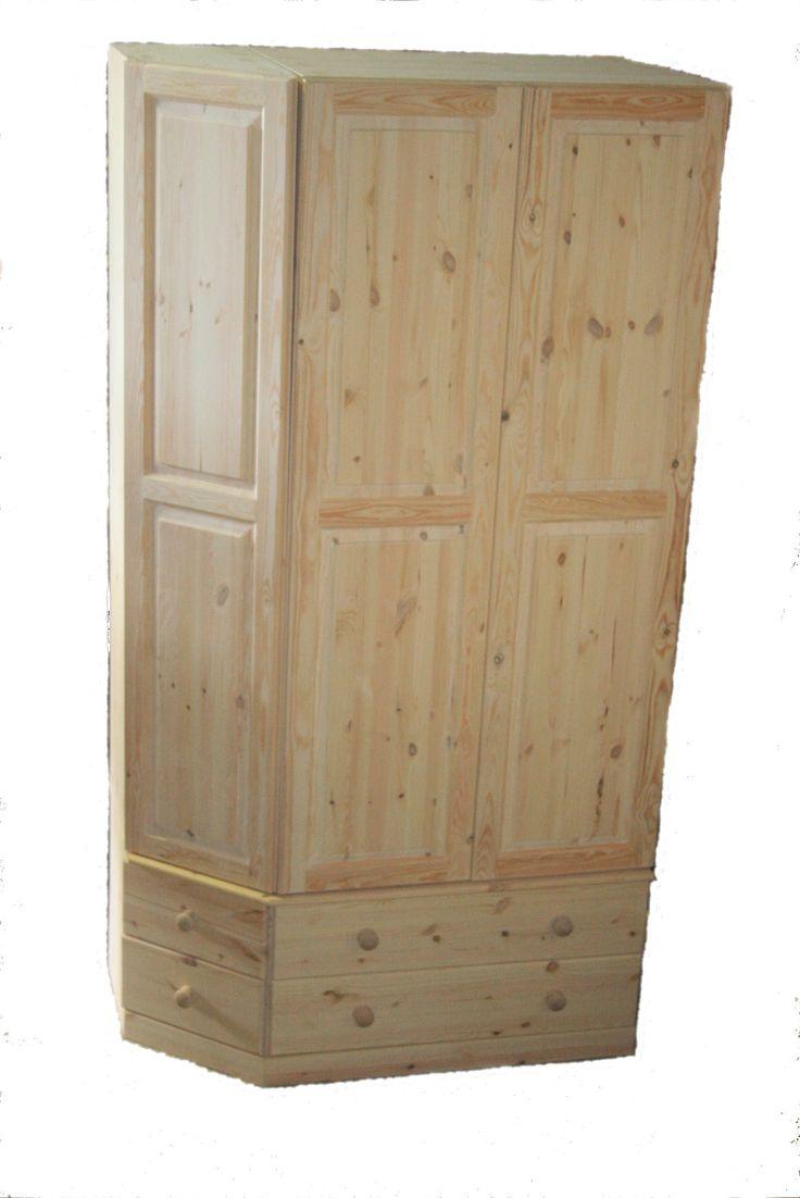 Unusual corner wardrobe from: http://www.woodenwardrobe.co.uk/