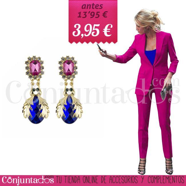 Pendientes Cassandra ★ 3'95 € en https://www.conjuntados.com/es/outlet/pendientes-cassandra-en-dorado-fucsia-y-azul-klein.html ★ #discounts #sales #soldes #descuentos #conjuntados #conjuntada #pendientes #earrings #joyitas #lowcost #jewelry #bisutería #bijoux #accesorios #complementos #moda #fashion #fashionadicct #fashionblogger #blogger #picoftheday #outfit #estilo #style #GustosParaTodas #ParaTodosLosGustos