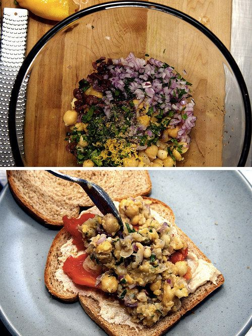 Smashed Chickpea Sandwich | 23 Delicious Lunches To Brighten Up Your Day At Work