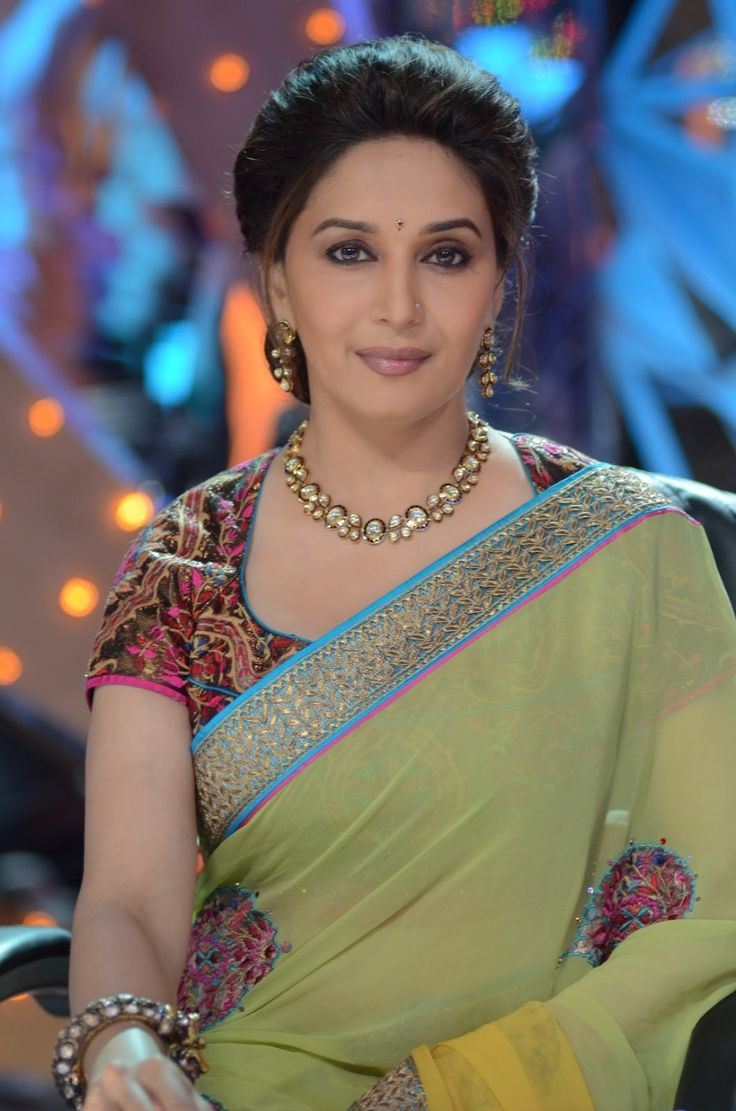 Madhuri Dixit Style Saree | More collection of Celebrity Saree Collection @ www.prafful.com