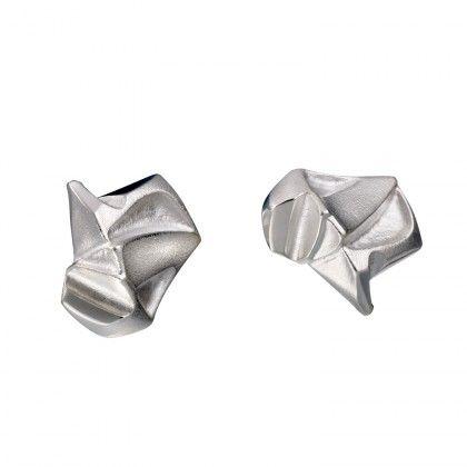 Nastassia earrings silver Design Björn Weckström / Lapponia Jewelry / Handmade in Helsinki