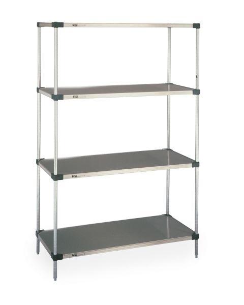 Super Erecta Solid Shelf Convenience Pak, Galvanized