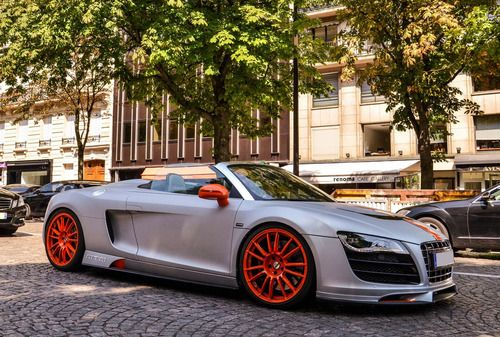 audi r8 spider on orange wheels sick all things. Black Bedroom Furniture Sets. Home Design Ideas