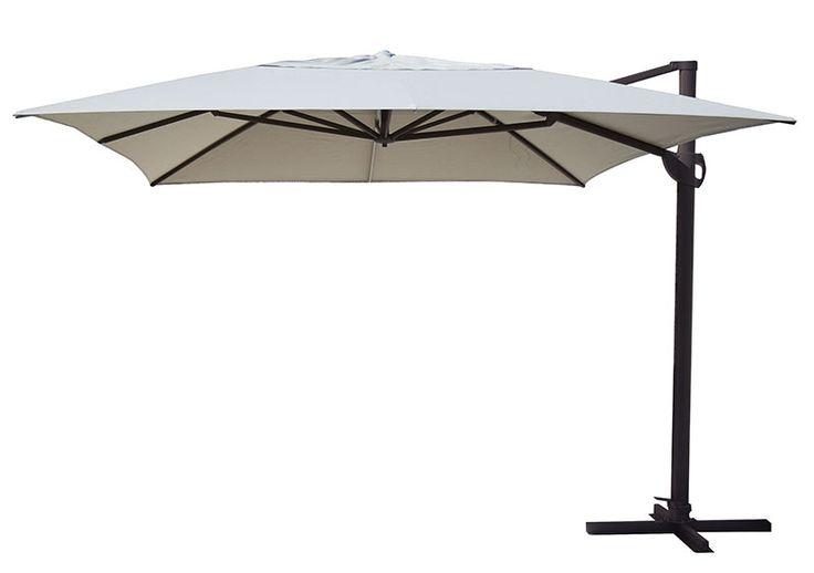 Bloom umbrella 4 0 x black ecru natural the outdoor for Outdoor furniture specialists