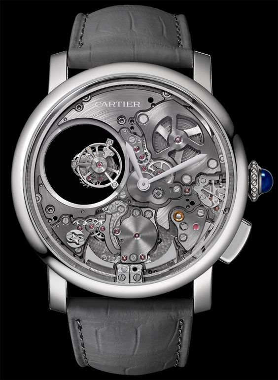 "Cartier Rotonde De Cartier Minute Repeater Mysterious Double Tourbillon Watch - see more about it here on aBlogtoWatch.com ""Cartier is rarely the first name that comes to mind when it comes to the annals of fine watchmaking, but the French maison has quietly and consistently been bolstering its catalog of super-interesting, high-end models. Case in point: the recently announced Rotonde De Cartier Minute Repeater Mysterious Double Tourbillon..."""