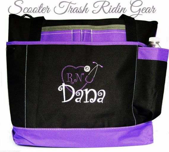 Free Shipping  Personalized Nurse Stethoscope Tote Bag  RN